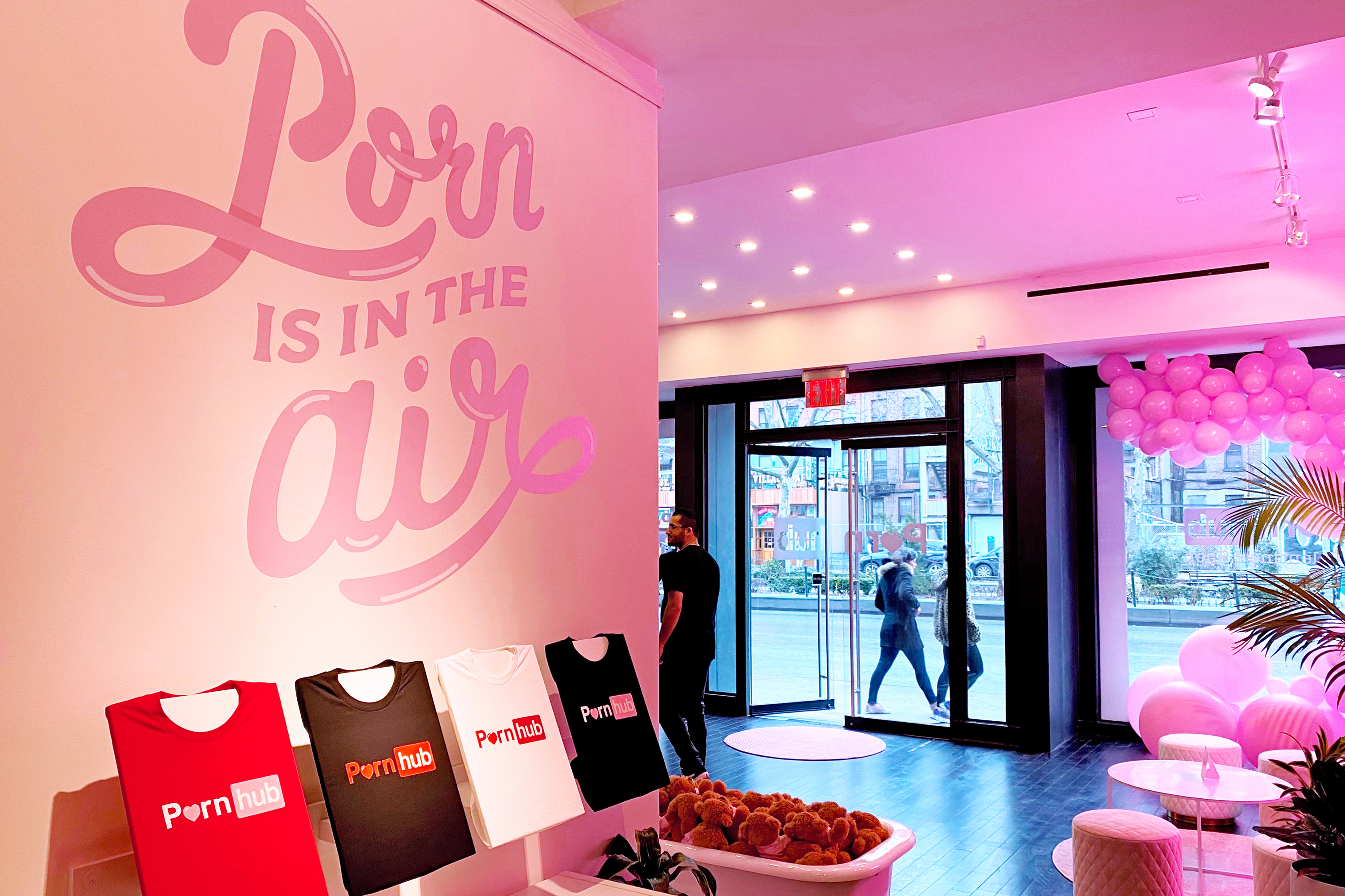 Inside Pornhub's unexpectedly buttoned-up Valentine's Day pop-up