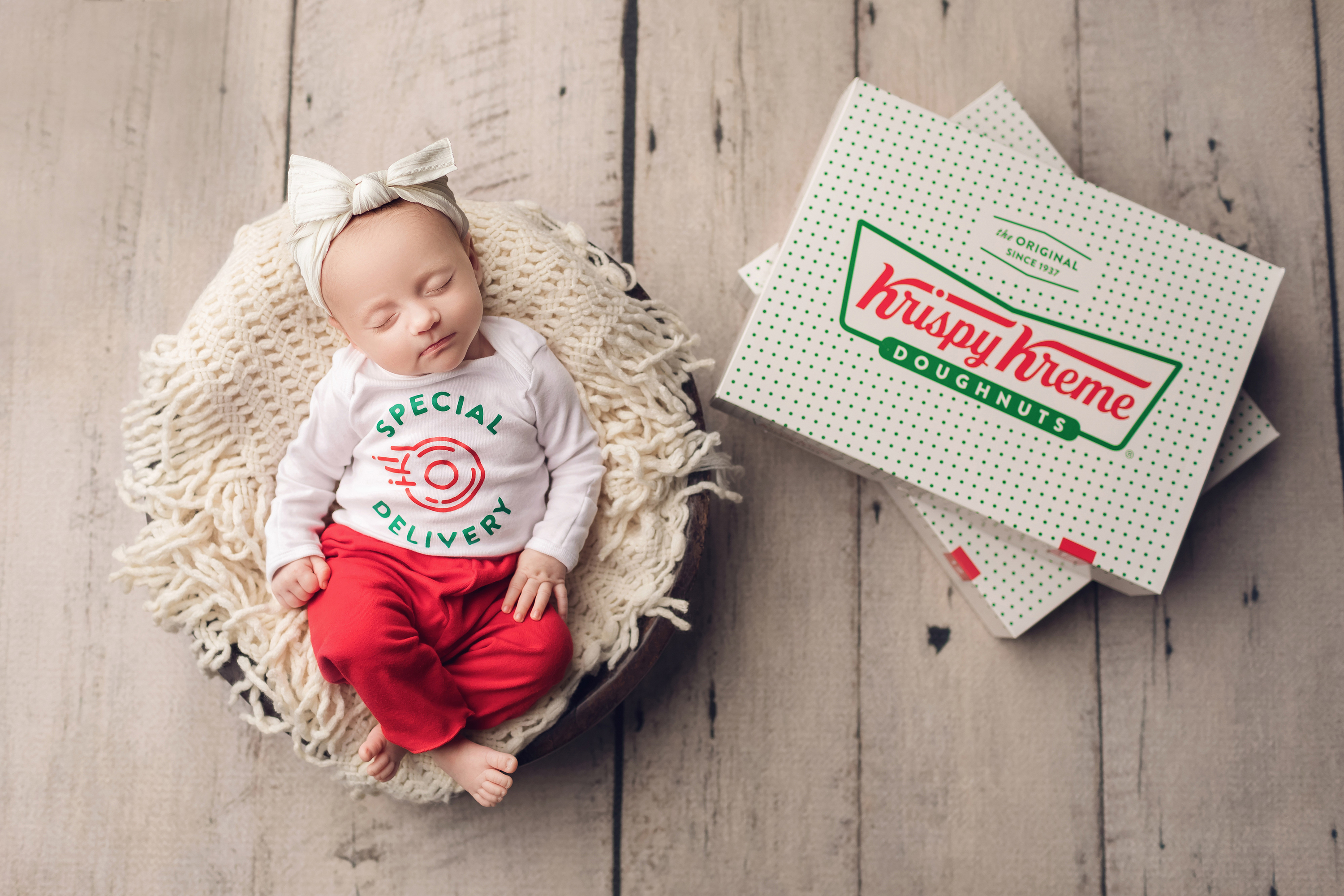 Krispy Kreme promotes delivery with free doughnuts for those delivering Leap Day babies