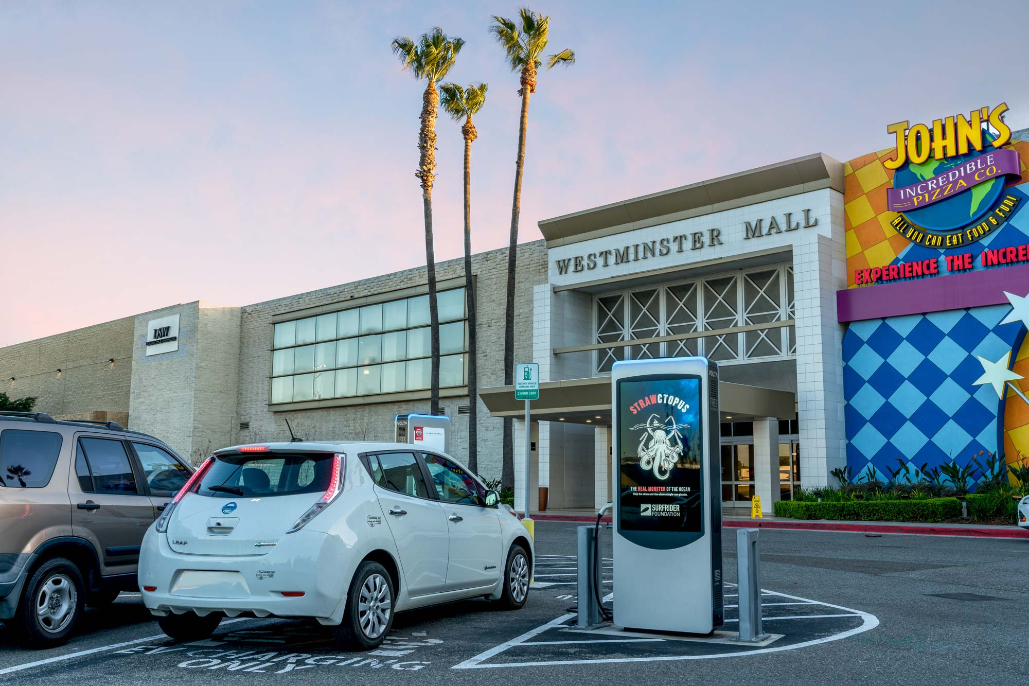Volta electric vehicle EV Telsa charging station ads advertising California Save the Bay Surfrider Foundation