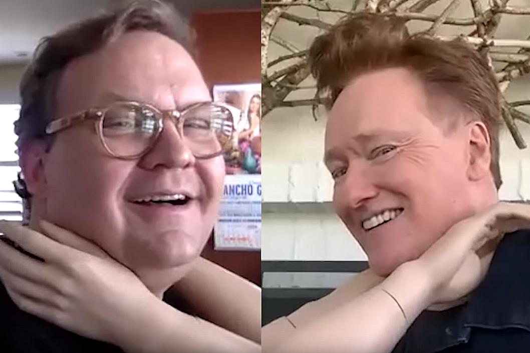 Watch Conan O'Brien and Andy Richter's historic virtual hug