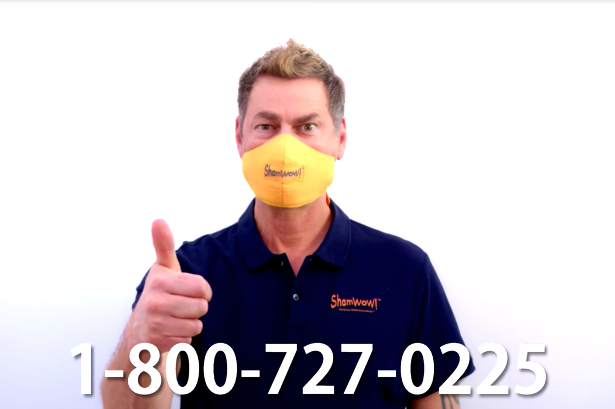 ShamWow gives away branded face masks in its dystopian infomercial