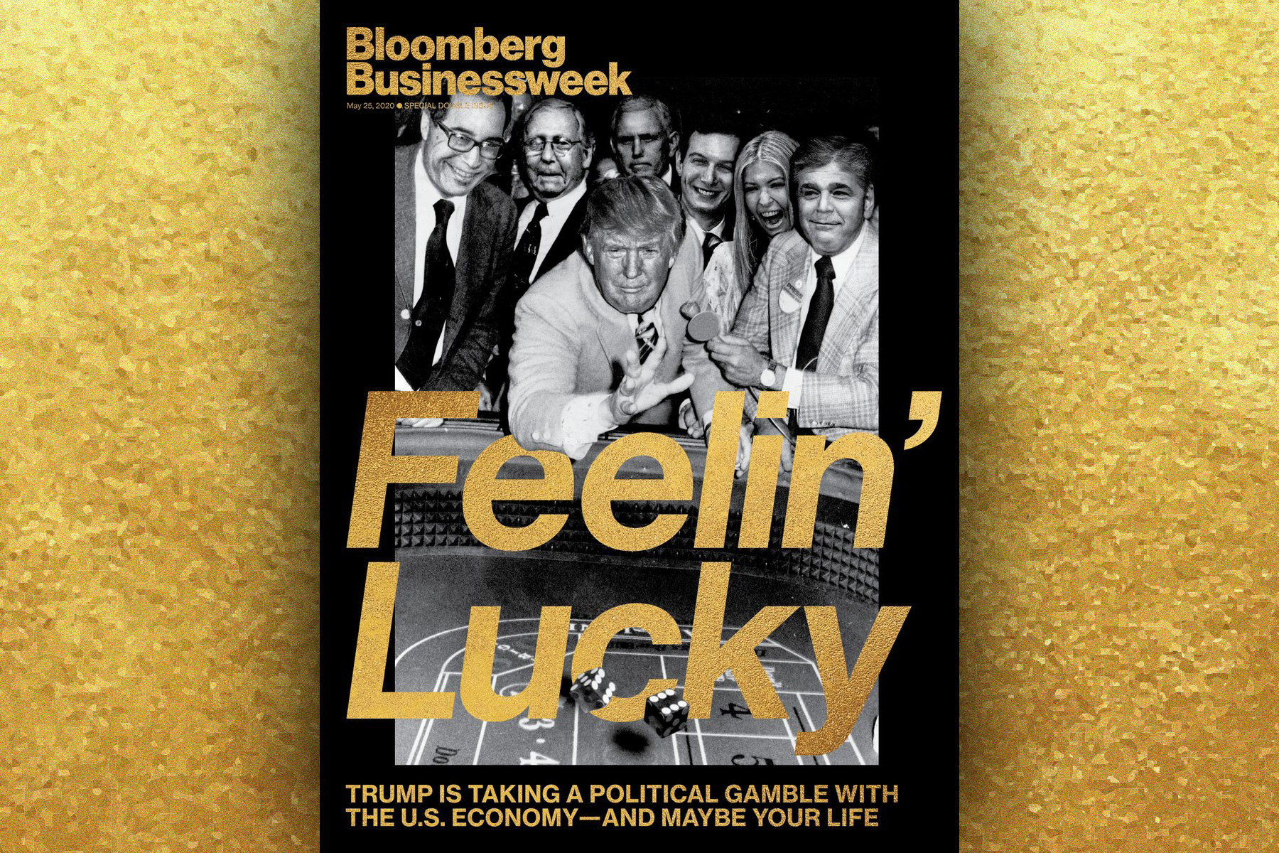 Trump is a gambling man on Bloomberg Businessweek's latest cover