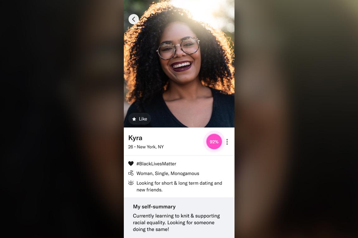 OKCupid: Black Lives Matter badge