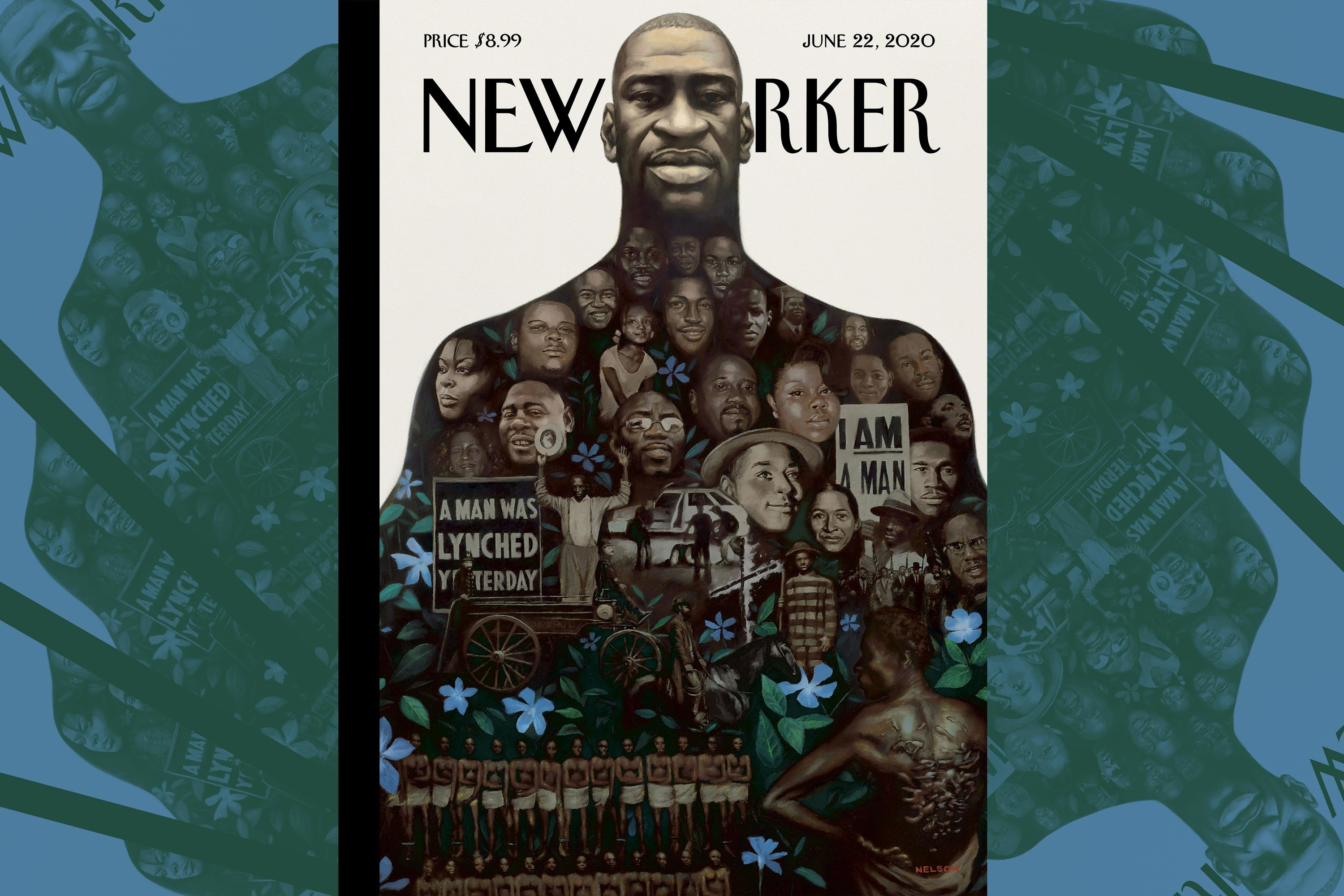 'Say Their Names': See the annotated, interactive version of The New Yorker's George Floyd cover