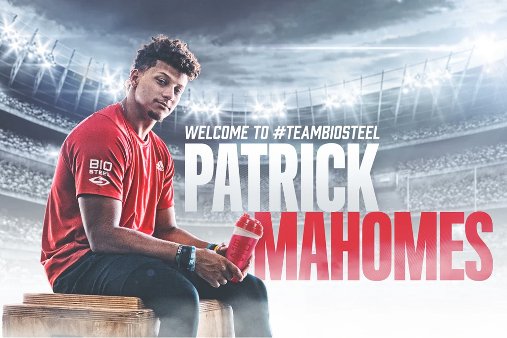 BioSteel Sports Nutrition signs multi year deal with Patrick Mahomes