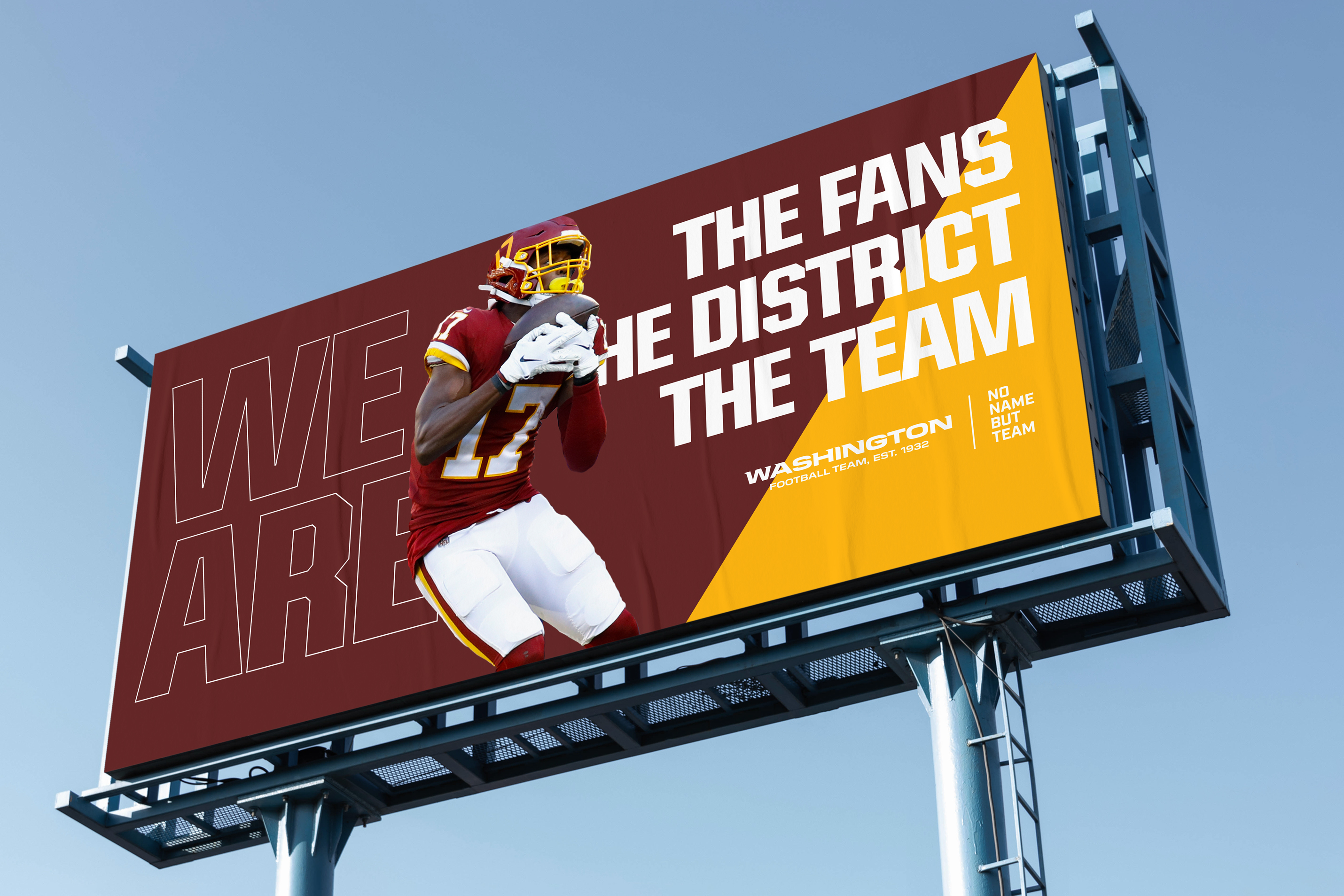 Washington Football Team Redskins No Name but Team new campaign interactive