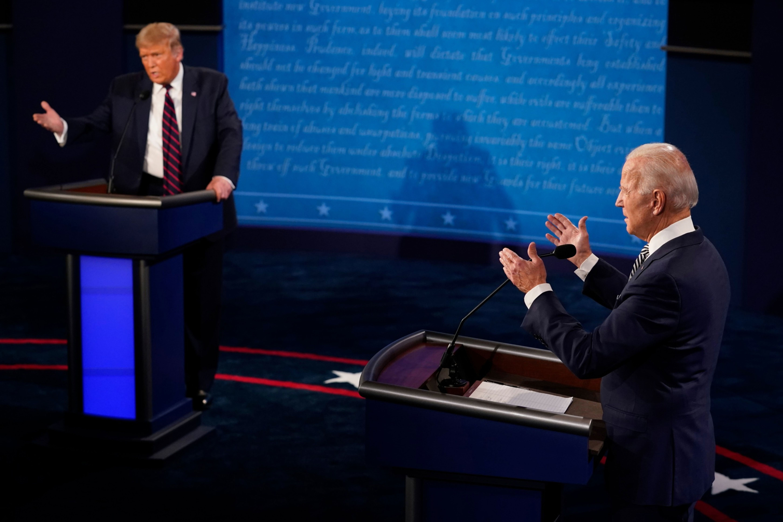Trump-Biden grudge match fails to set debate record