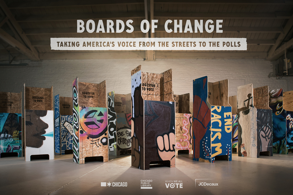 City of Chicago: Protest Billboard Voting Booths