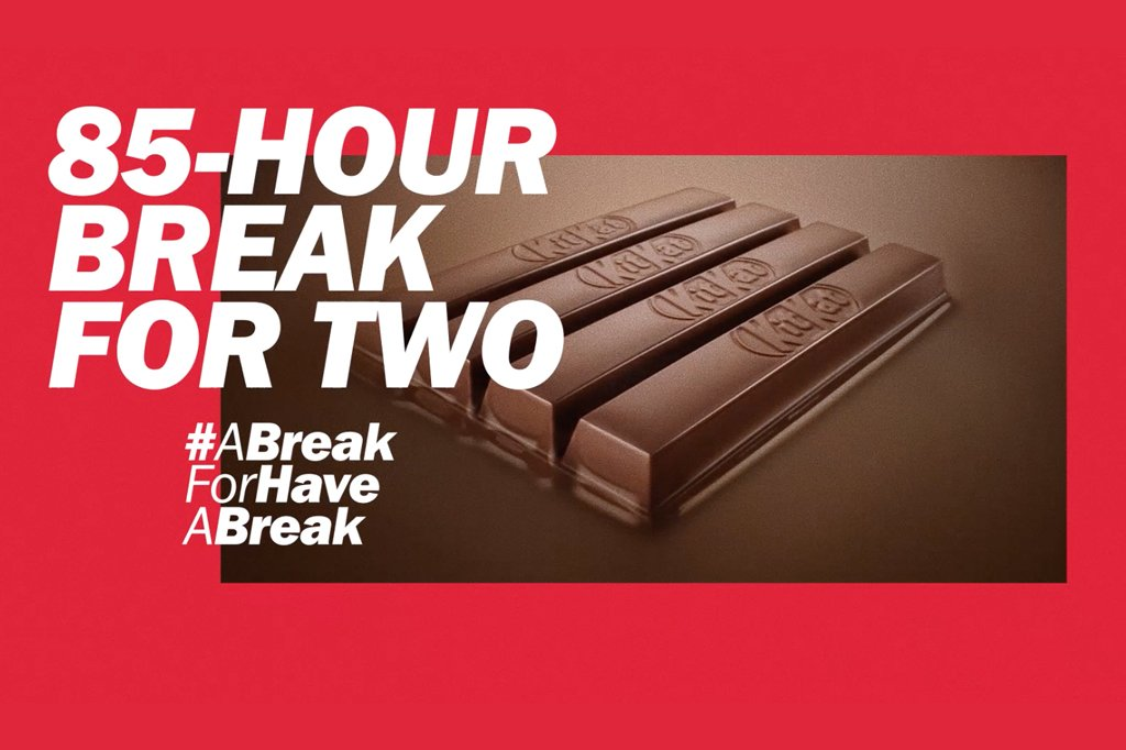 Kit Kat's global slogan gets a 10-day break as the brand turns 85