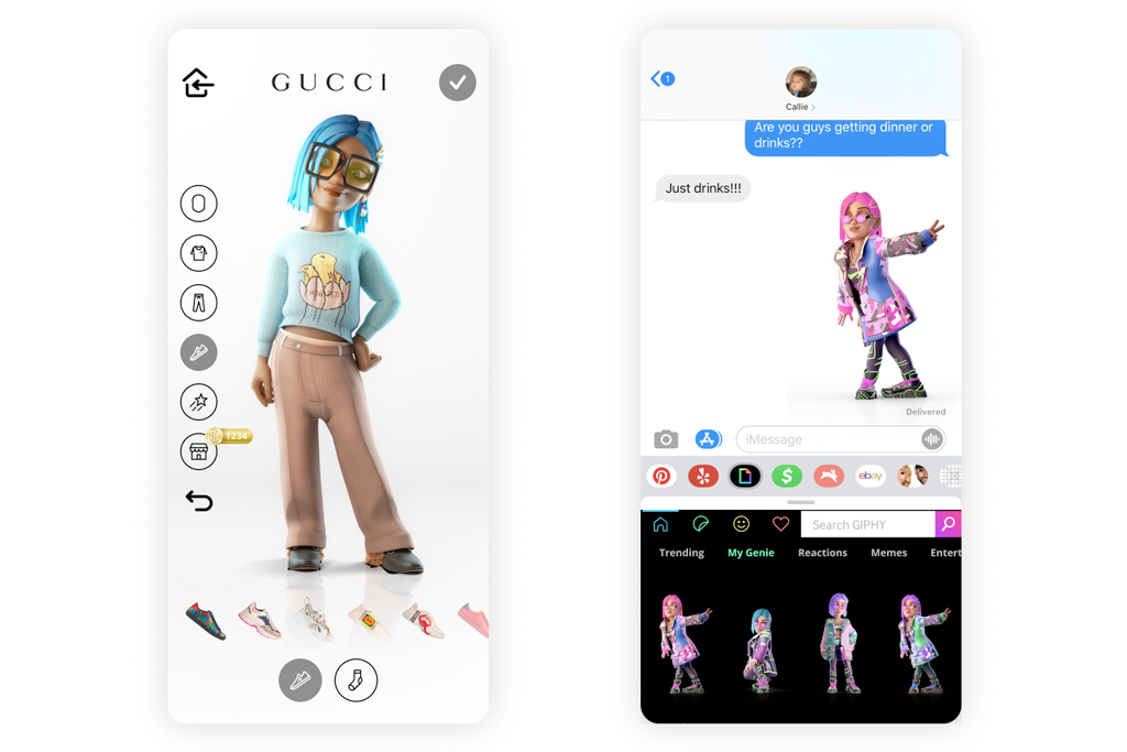 Gucci and Giphy bring avatars and a future revenue driver in digital goods to their apps