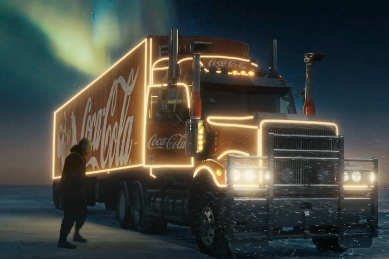 Santa drives a Coke truck, not a sleigh, in the soda's big budget Christmas ad