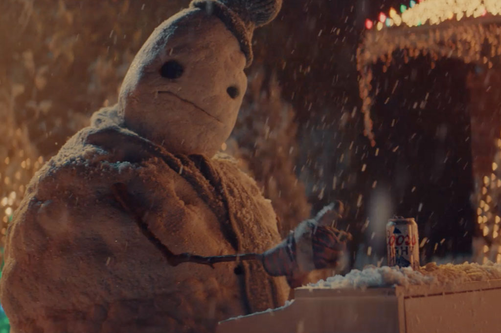 Coors Light's sad snowman brings classic rock cheer to a grueling 2020