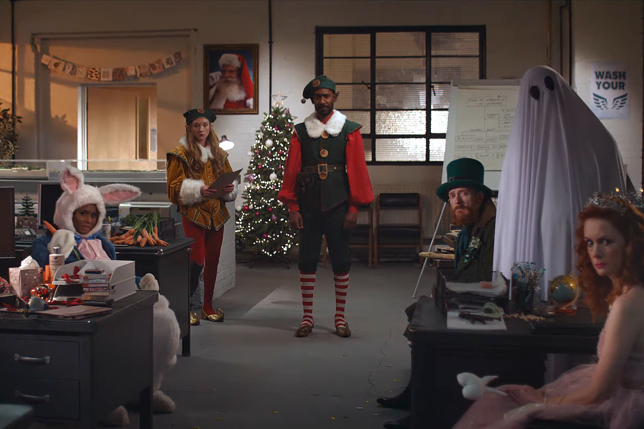 The Easter Bunny, Tooth Fairy and St. Patrick's Day leprechaun argue about Christmas in Channel 4's absurd holiday ad