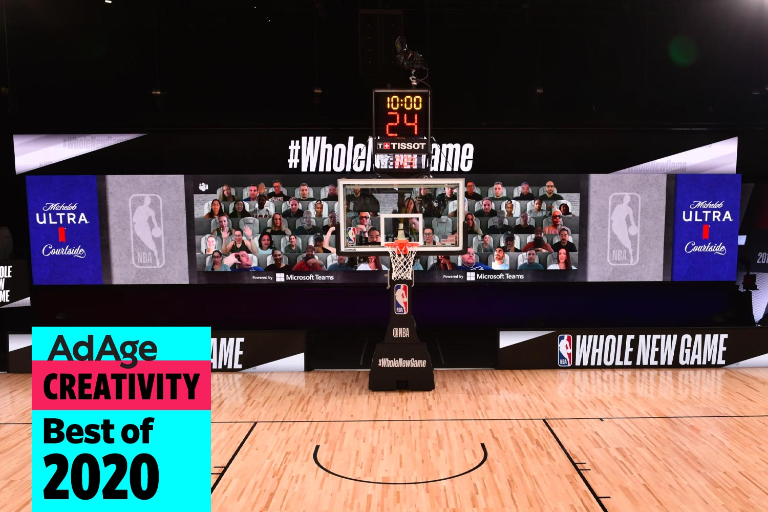 Best of 2020 No. 23: Microsoft and Michelob Ultra bring NBA fans 'courtside' in the Orlando Bubble