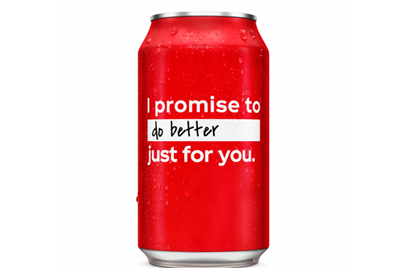 Coke's customizable new year's resolution cans feature in new campaign