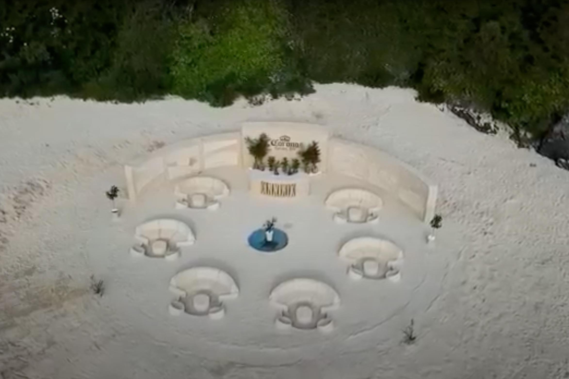 Corona's all-natural beach bar marks brand's eco-milestone