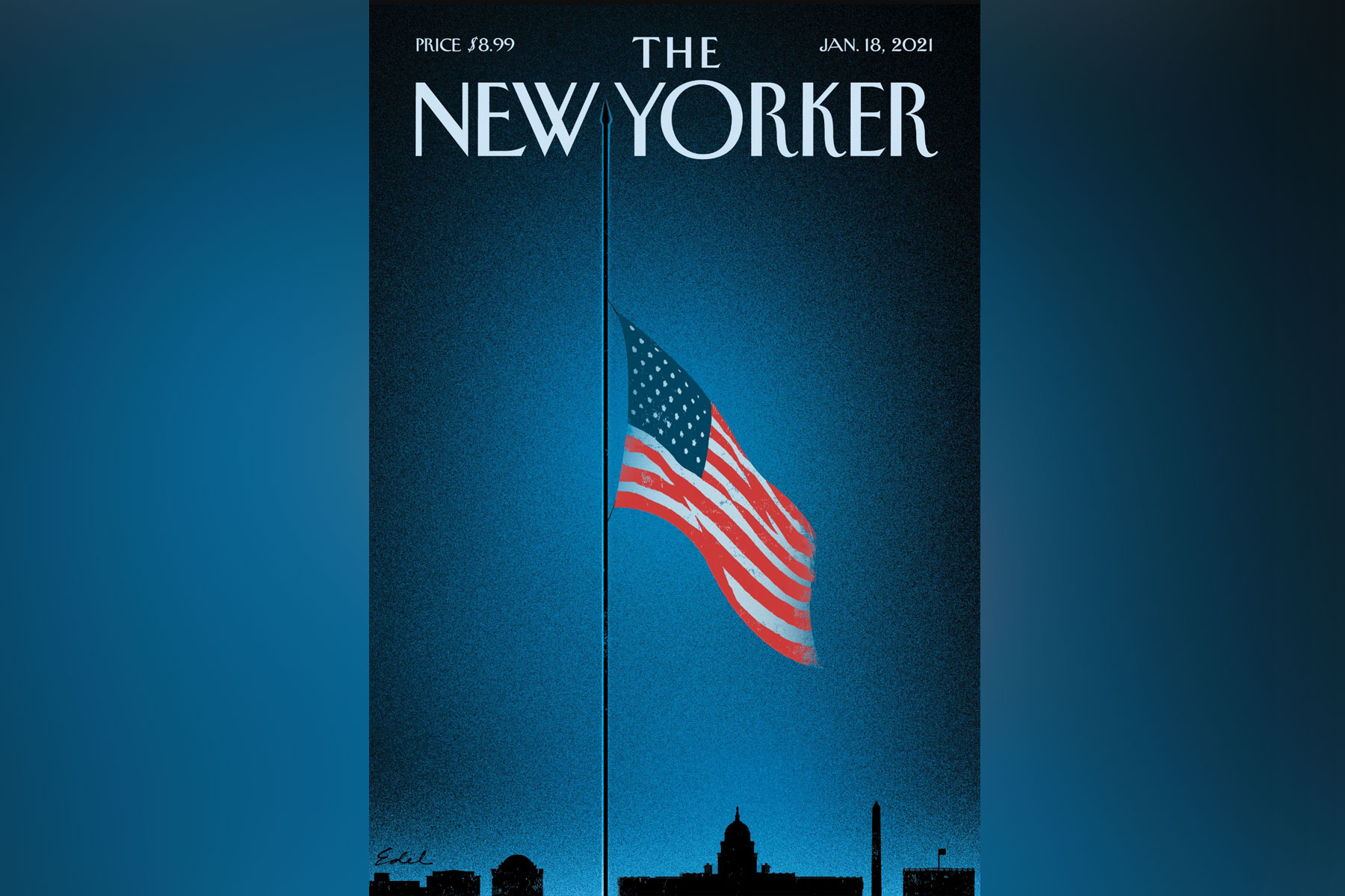 'A part of America died on January 6th,' says The New Yorker's cover artist