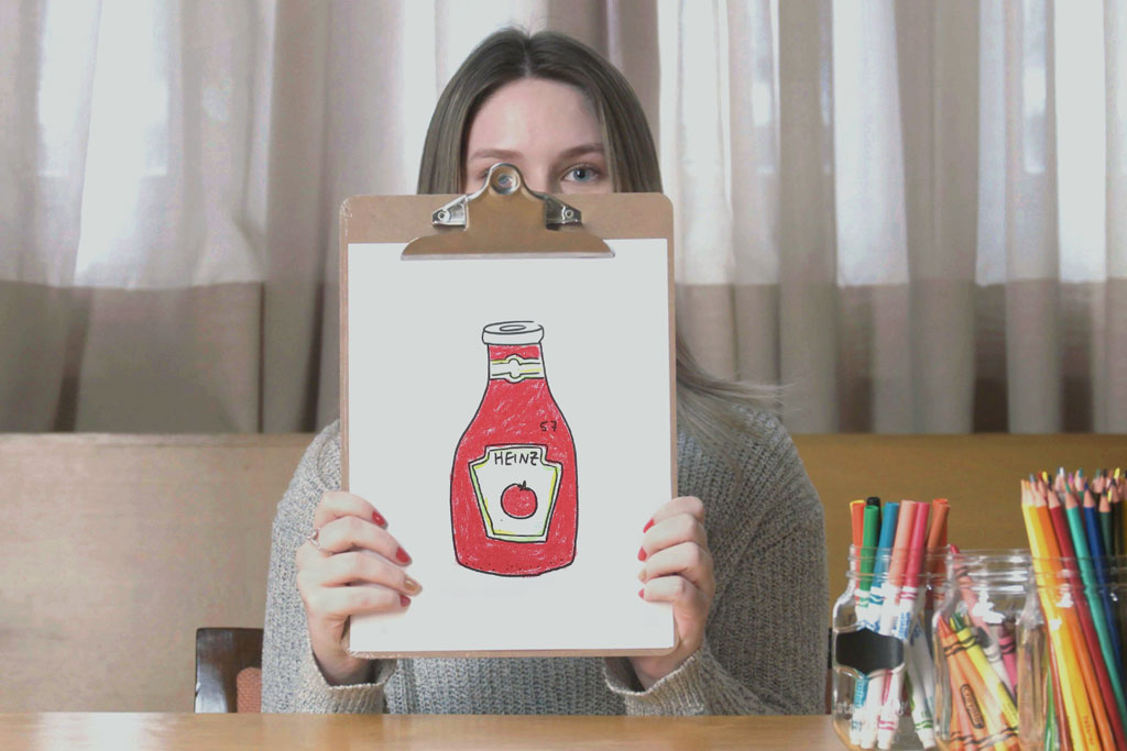 Heinz (anonymously) asked people to draw ketchup and this is what happened