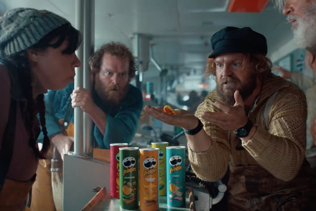 See Pringles take its stacking message to sea in its Super Bowl spot