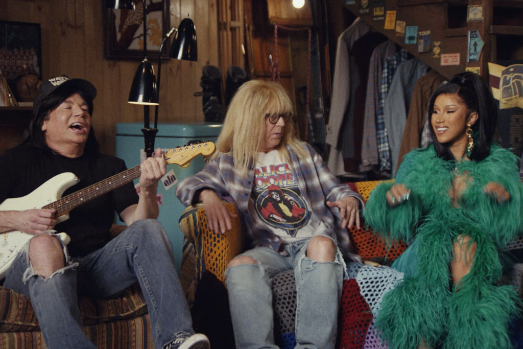 MIke Myers and Dana Carvey party on for local restaurants in Uber Eats' 'Wayne's World' Super Bowl ad
