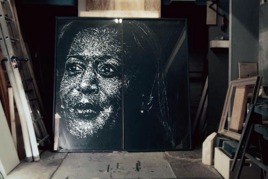 National Women's History Museum: Glass portrait