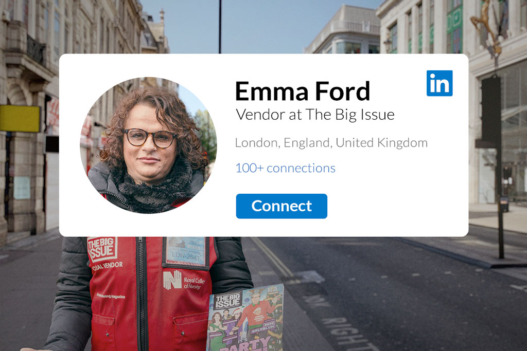The homeless vendors of magazine The Big Issue are joining LinkedIn to continue selling online