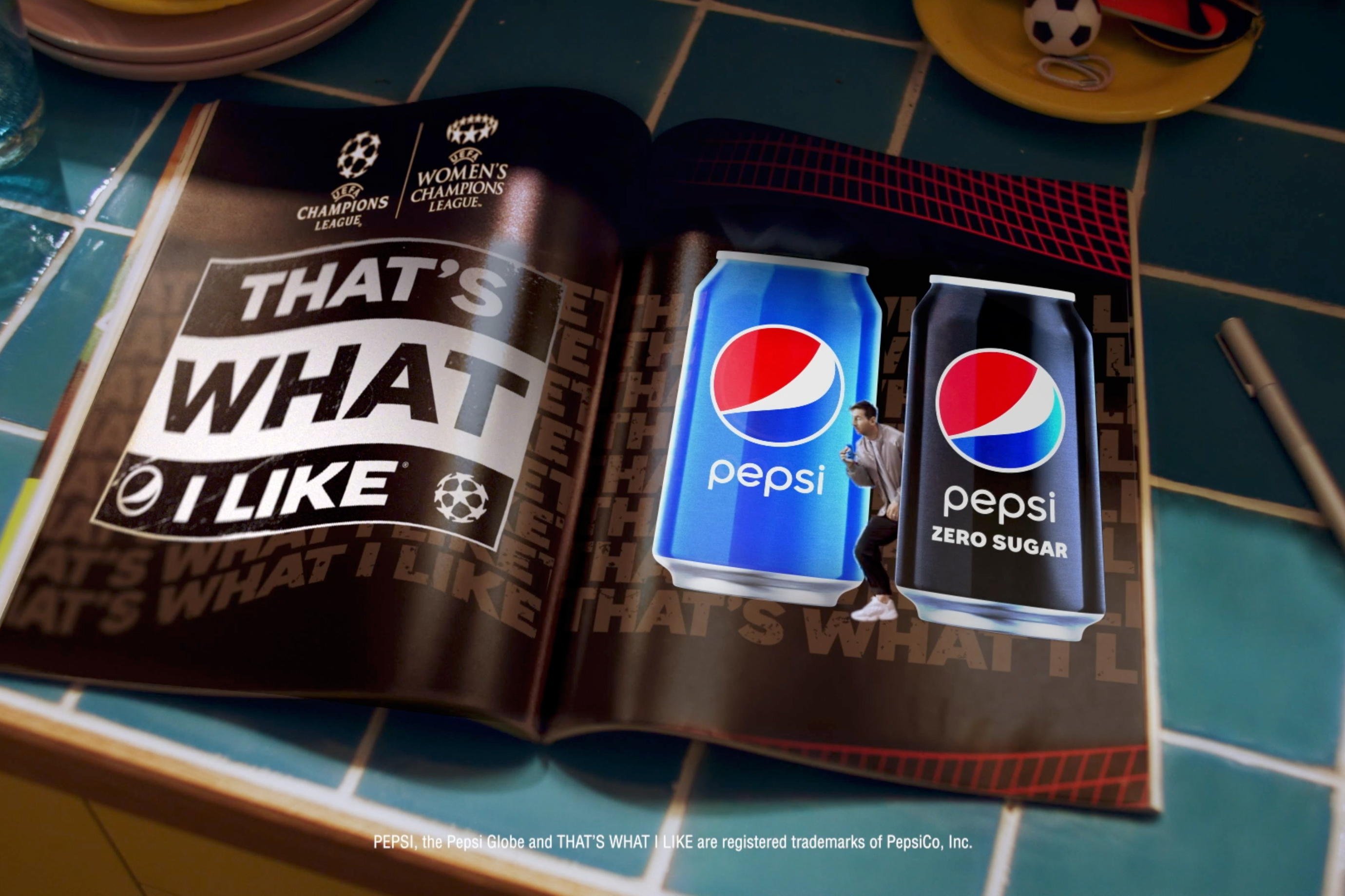 Pepsi new UEFA Champions League soccer campaign ad AMV BBDO Raine Allen Miller Leo Messi Paul Pogba Shanice van de Sanden commercial TV Rotate Becky G Burna Boy Pepsi song