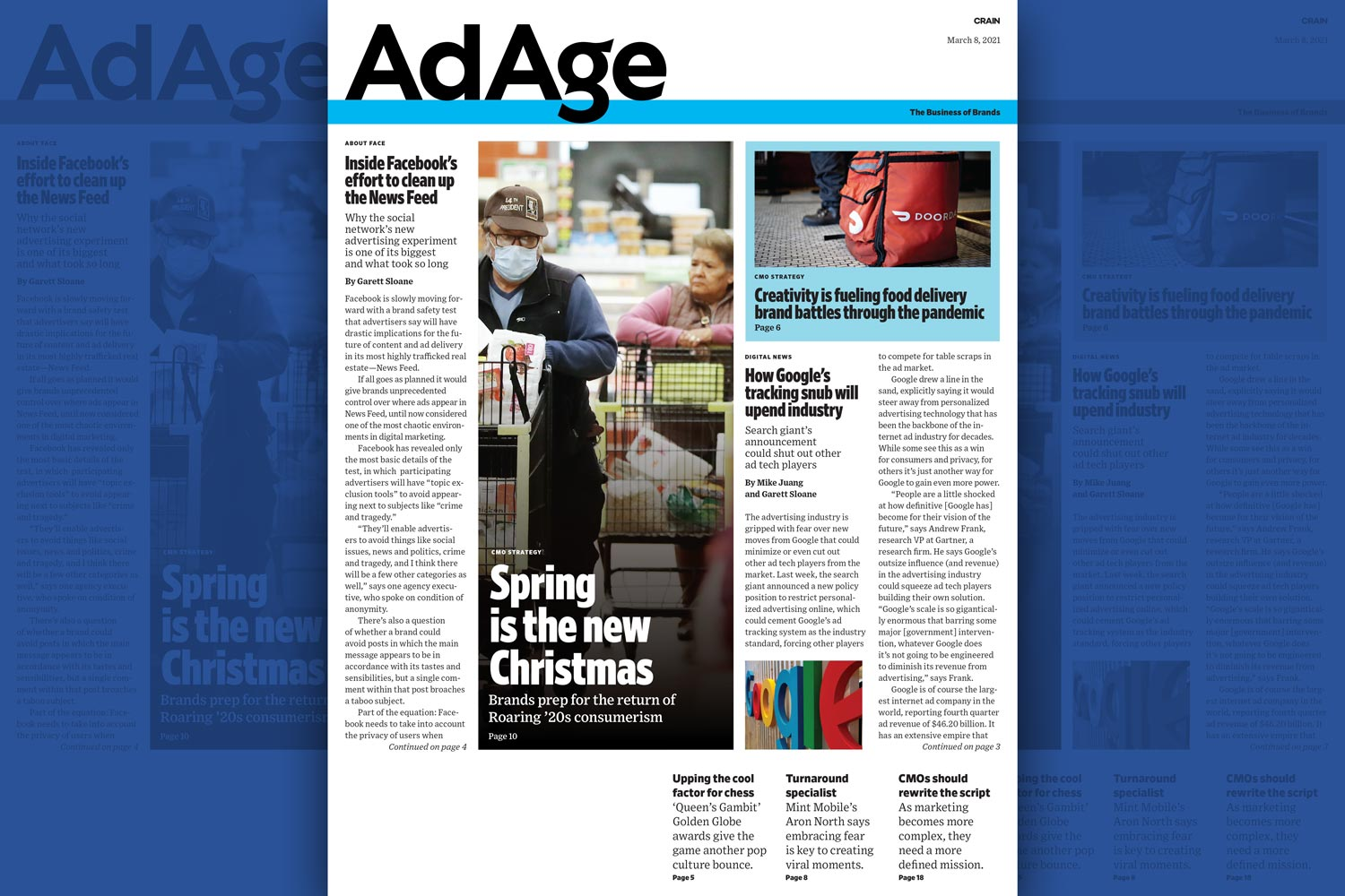 Facebook's News Feed Cleanup and Google's Tracking Snub: Ad Age Digital Edition