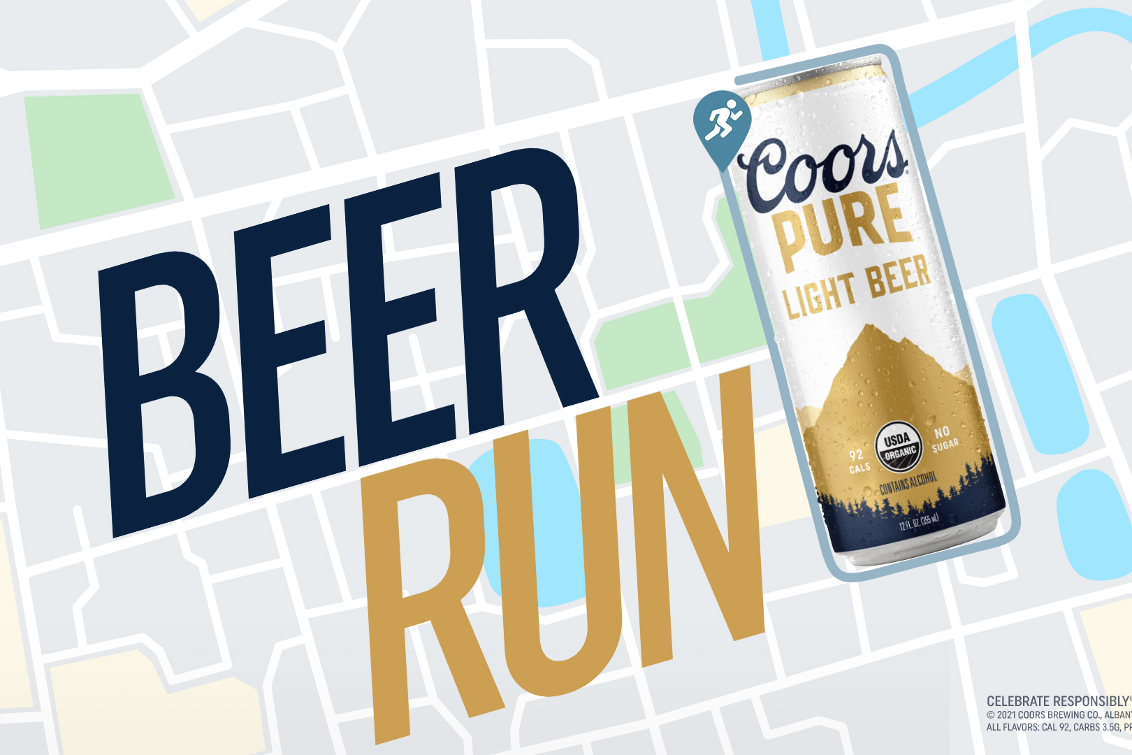 Get stretching: Molson Coors launching new organic Coors Pure with literal beer run
