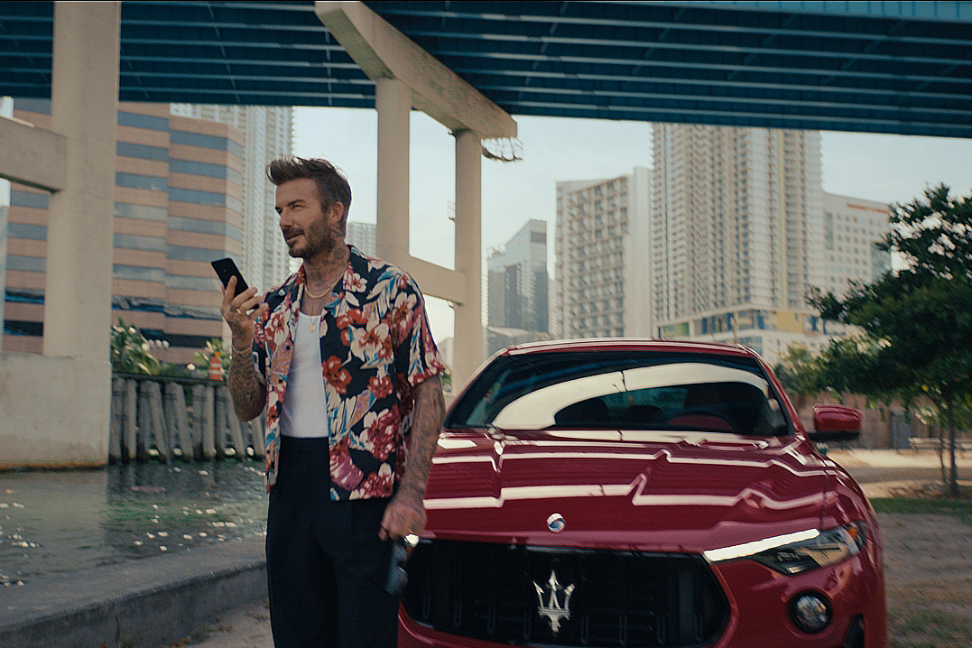 David Beckham takes a sneaky break in Droga5's campaign for Maserati