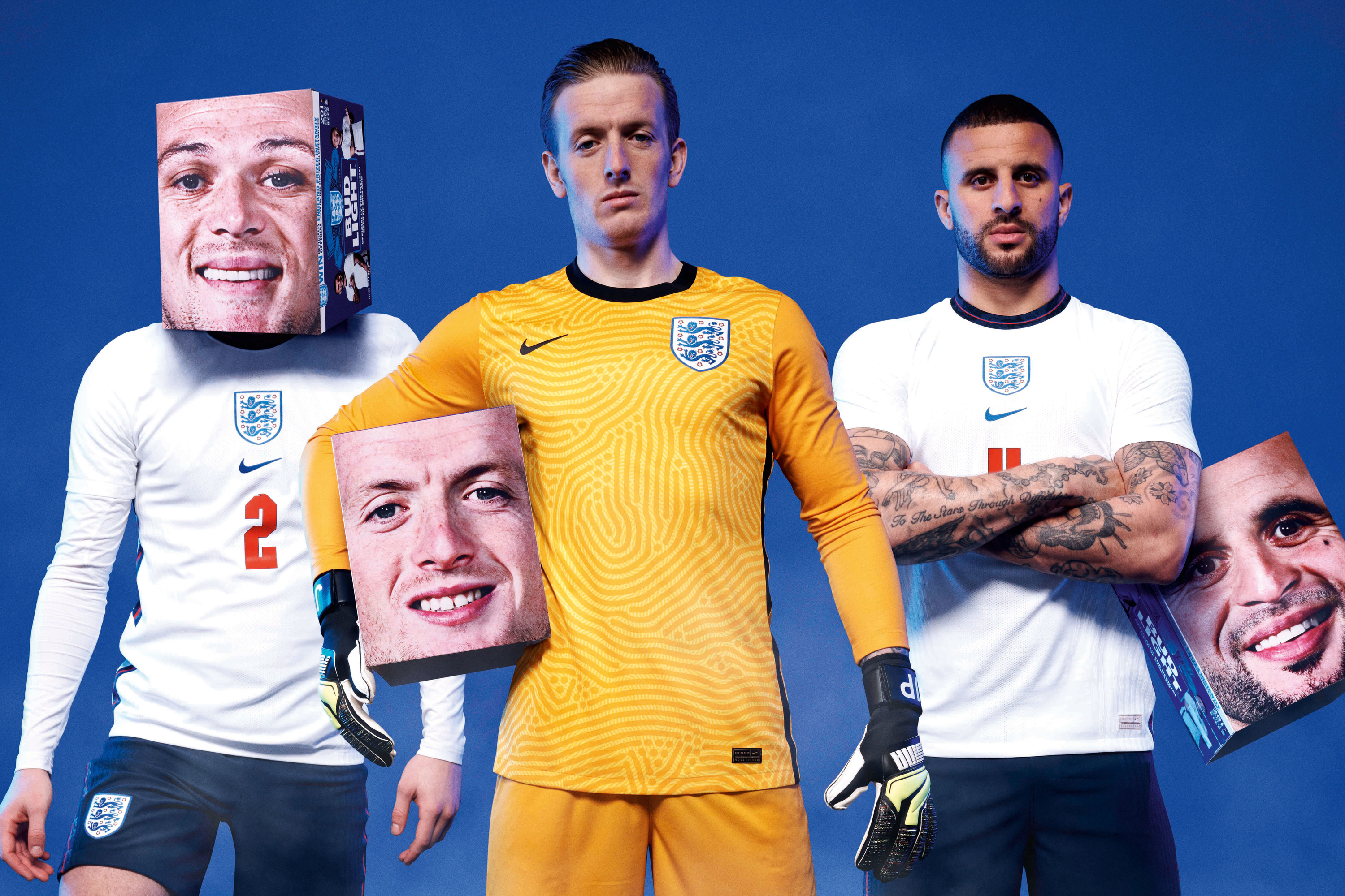 Bud Light puts soccer players' faces on its boxes so fans can wear them