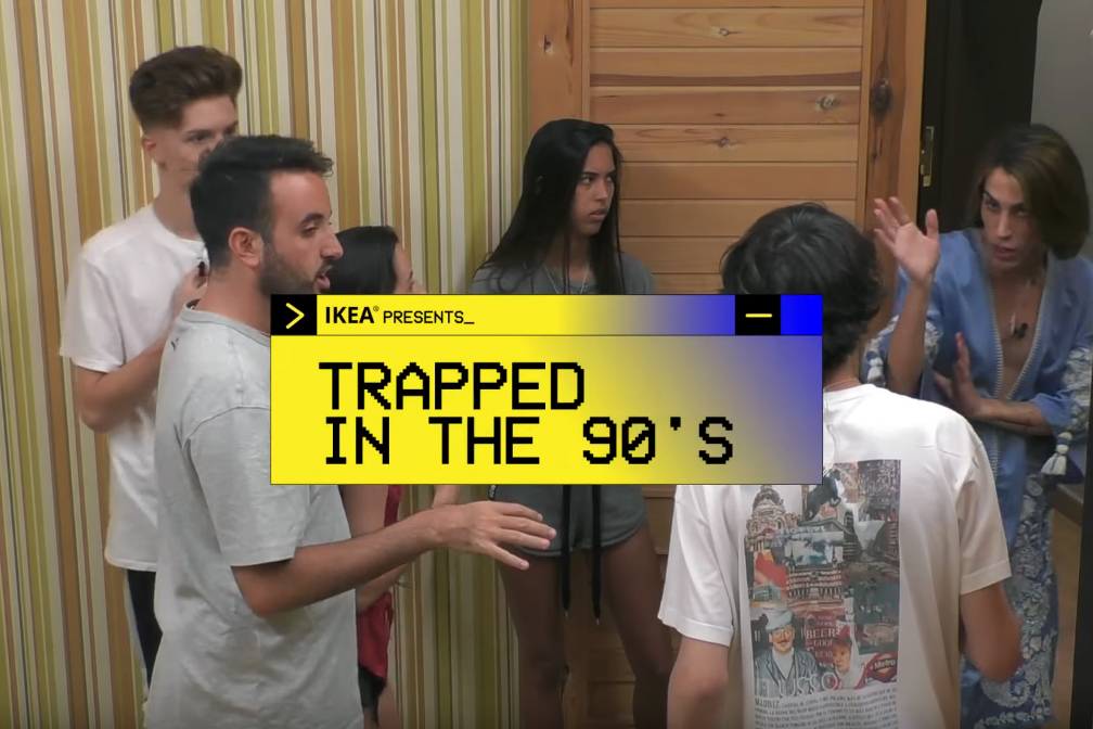 Ikea 'traps' housemates in a '90s reality show