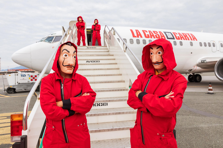 Netflix put fans on a plane to block 'Money Heist' spoilers