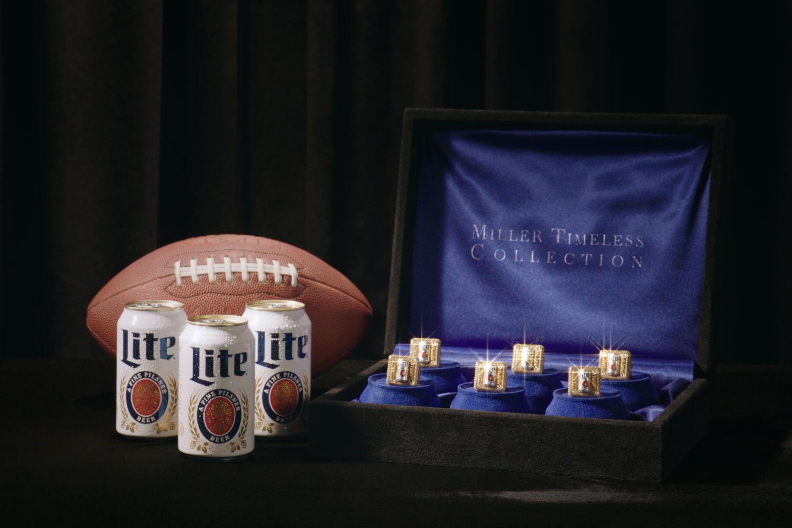 These gem-studded rings unlock a lifetime supply of Miller Lite