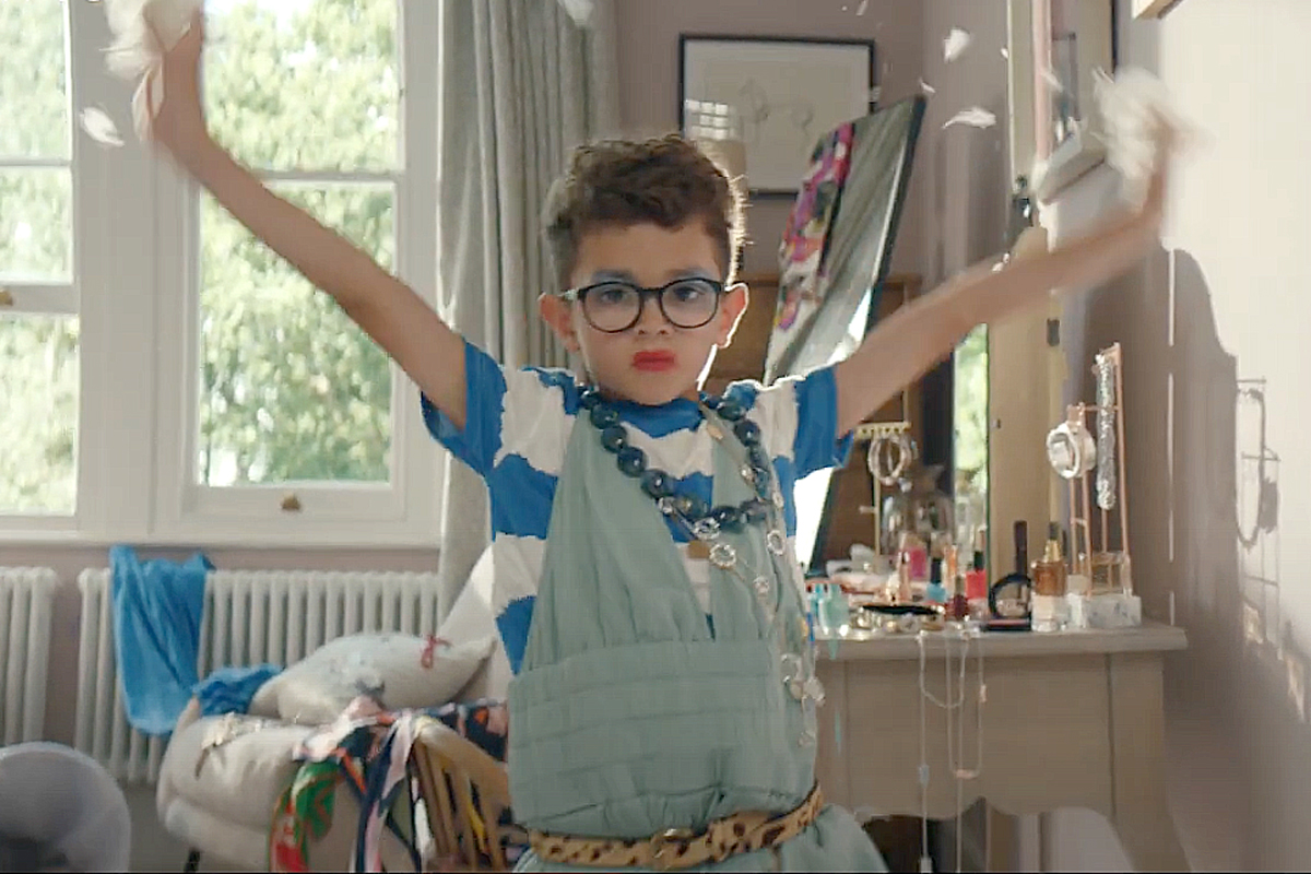 A dramatic kid leaves a trail of adorable chaos for John Lewis