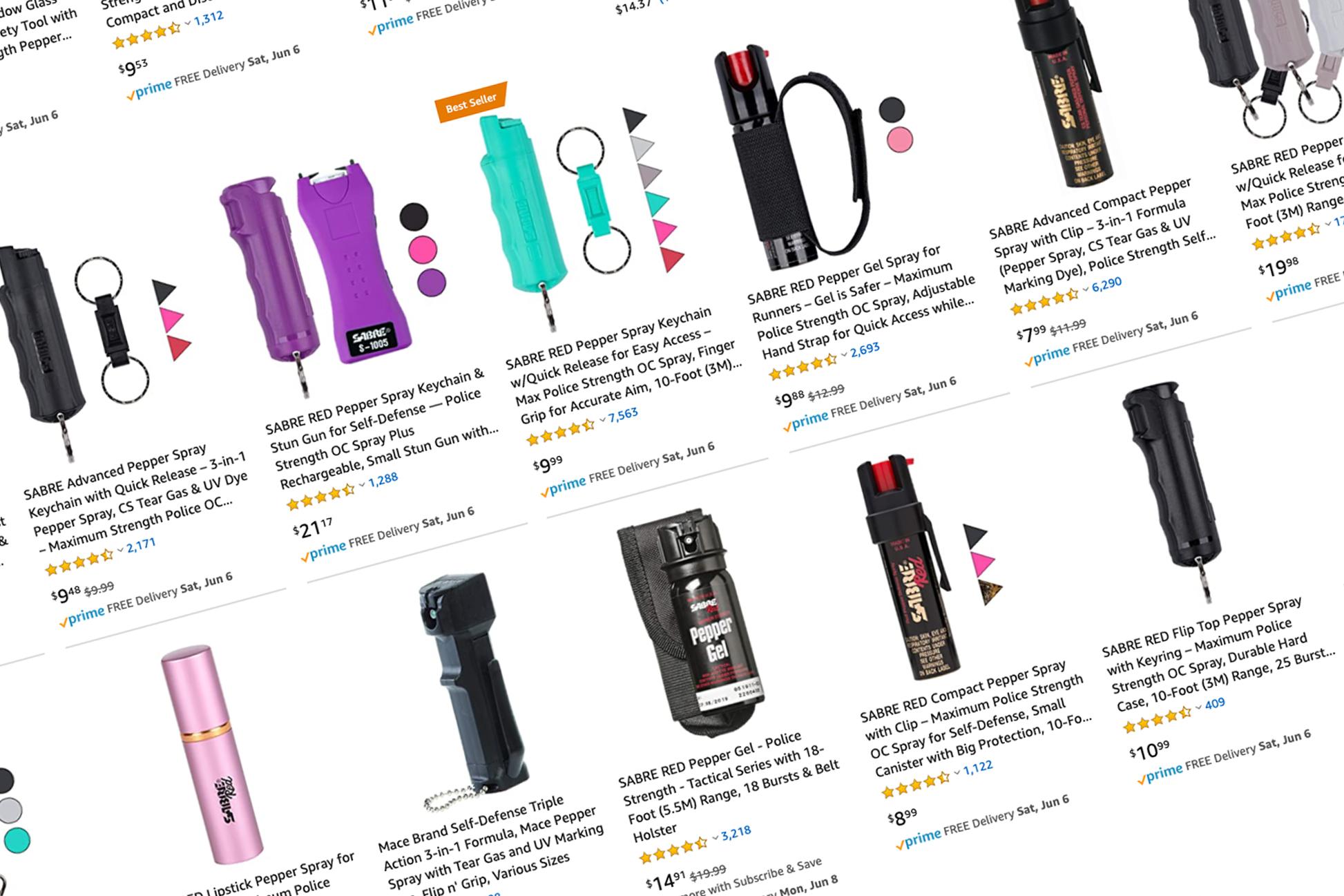 Pepper spray sales soar on Amazon