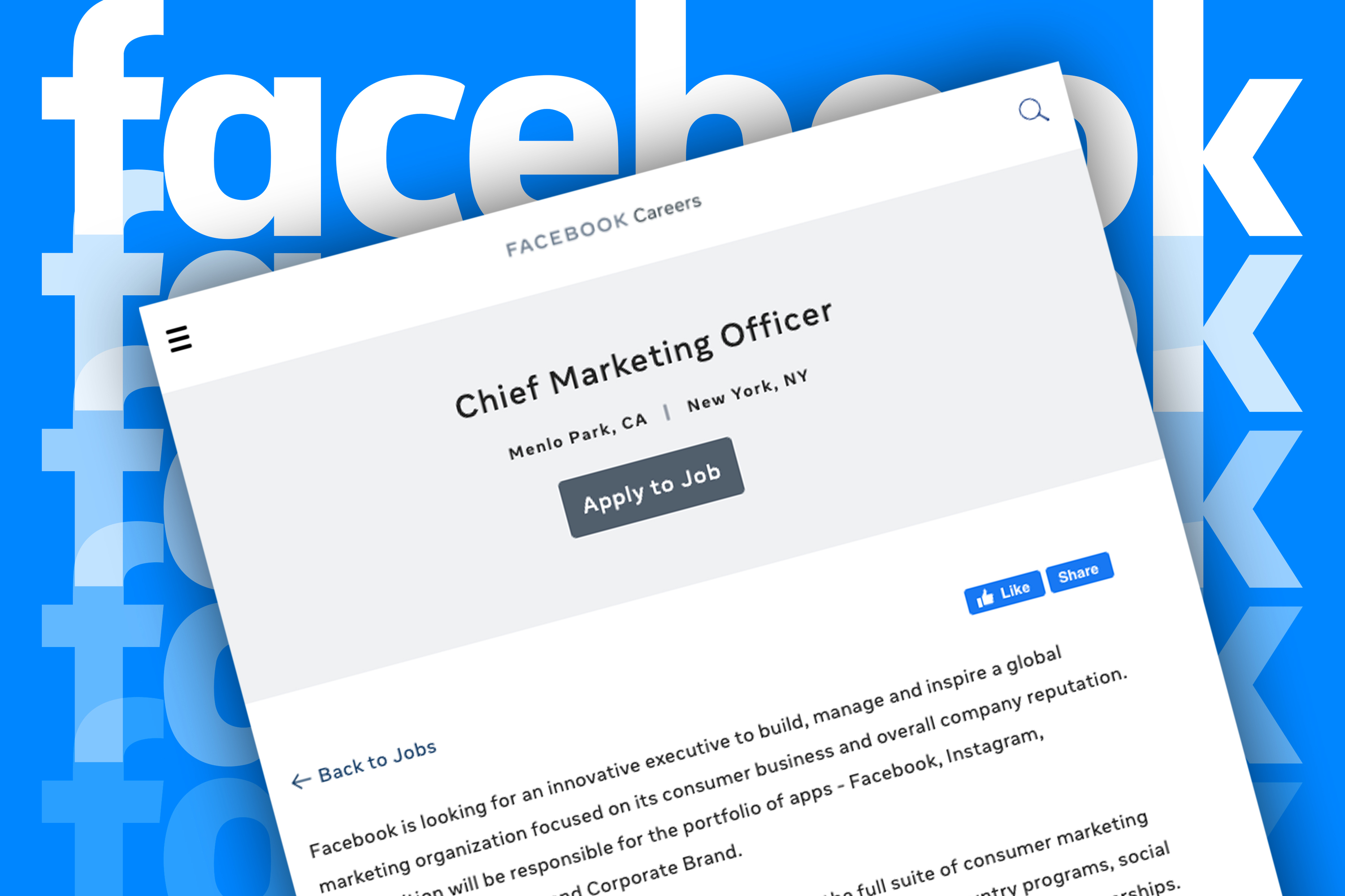 Help Wanted: Facebook posts CMO job opening