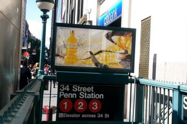 As Alcohol Ads Sprawl Elsewhere, New York Buses and Trains Go Dry