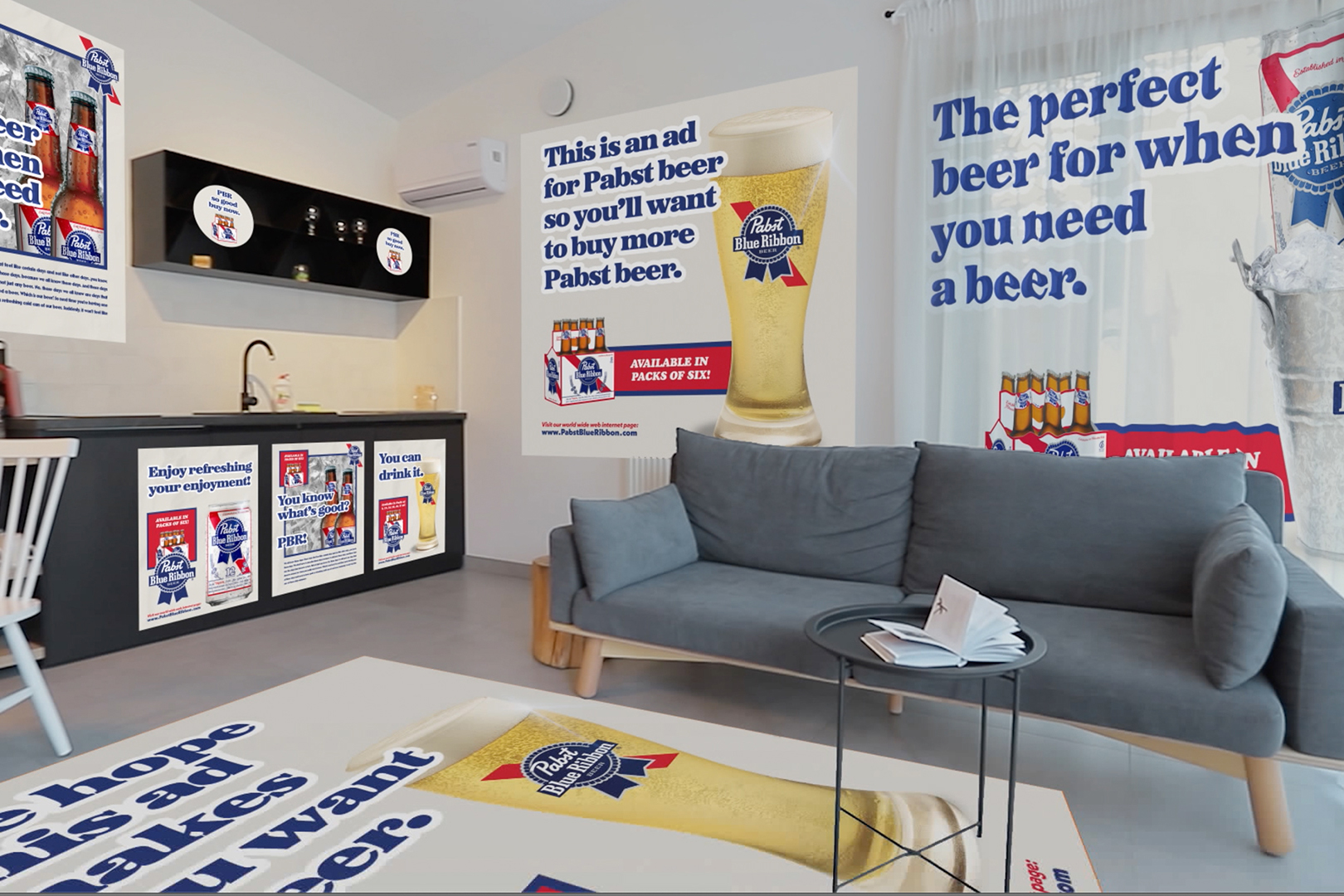 Pabst Blue Ribbon will pay you to turn your home into its billboard