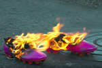See the Spot: Adidas Sets Fire to Pink and Shrink