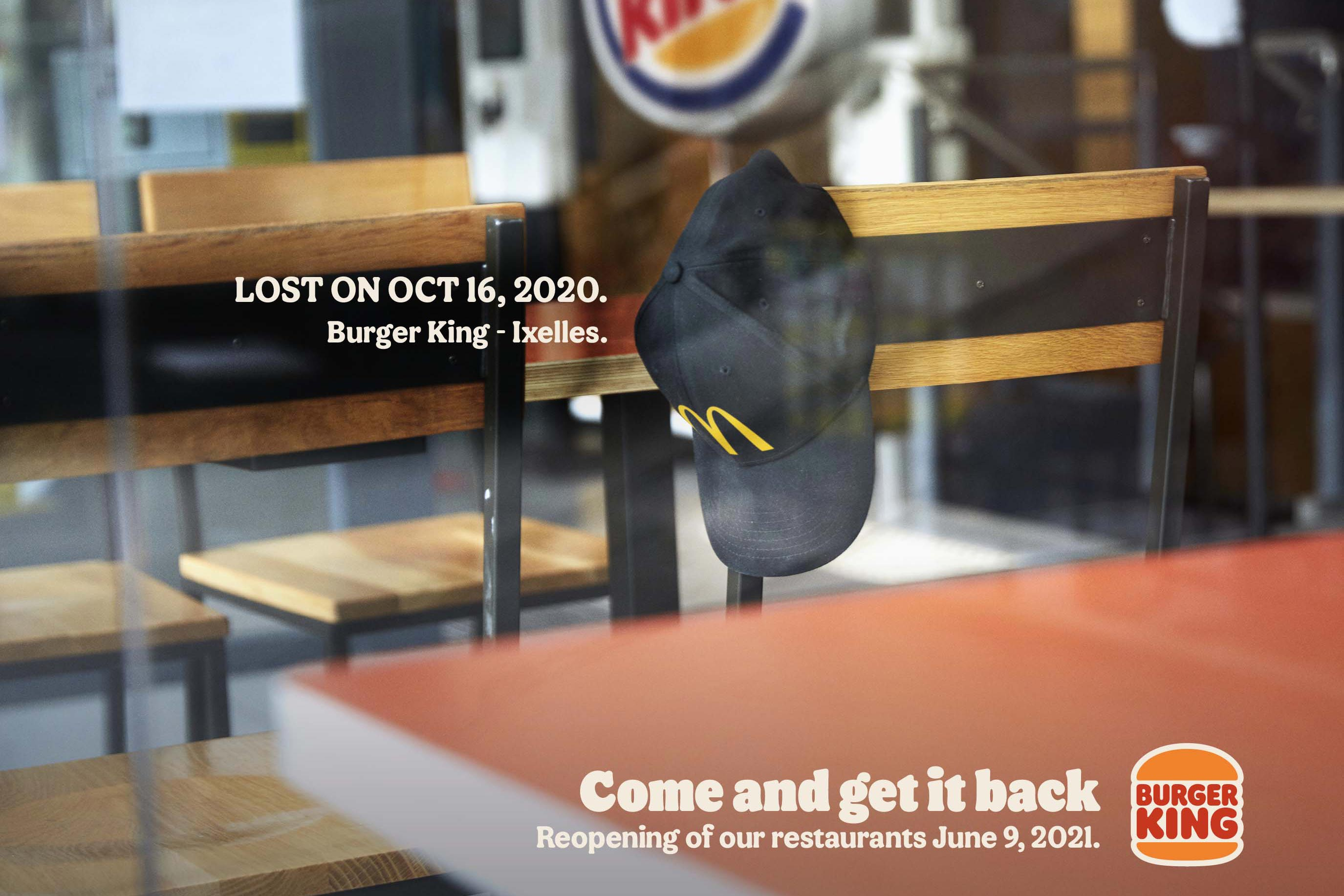 Burger King's welcome-back campaign includes a dig at McDonald's