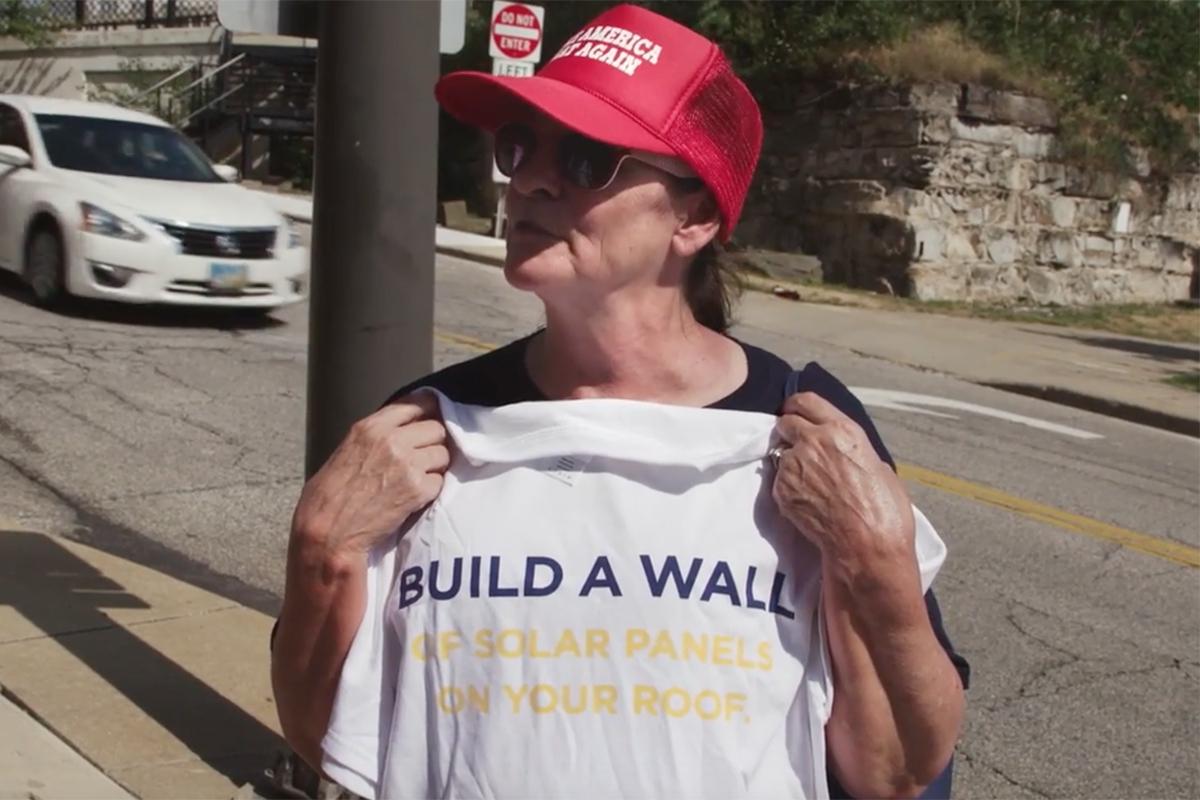 'Build a Wall' Solar-Powered Political Stunt