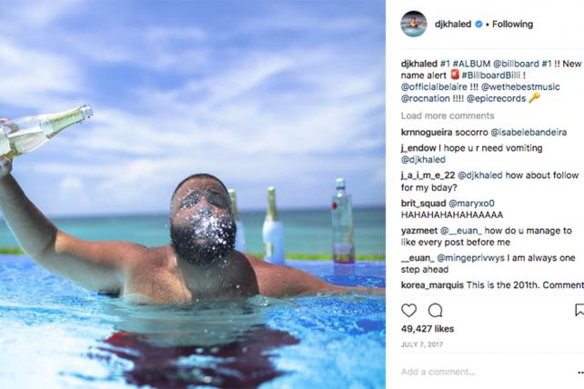 DJ Khaled faces scrutiny over social media booze posts