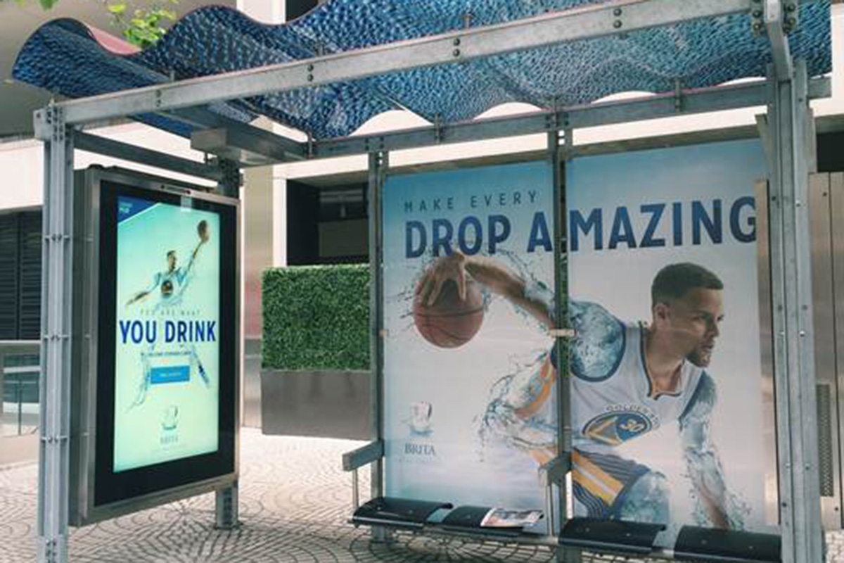 Stephen Curry Bus Shelters