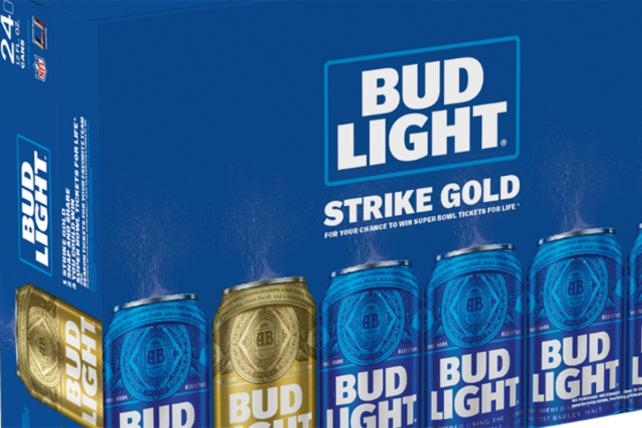 Bud Is the Willy Wonka of Beer With Gold Cans that Will Give You Super Bowl Tickets for Life