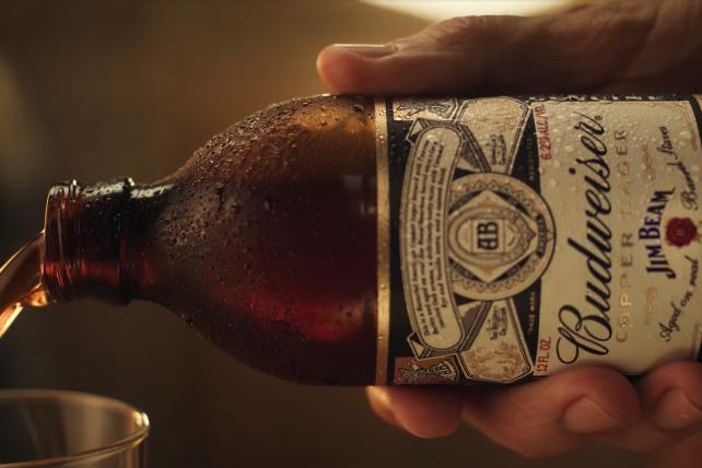 See the ad for the new Budweiser-Jim Beam co-branded beer