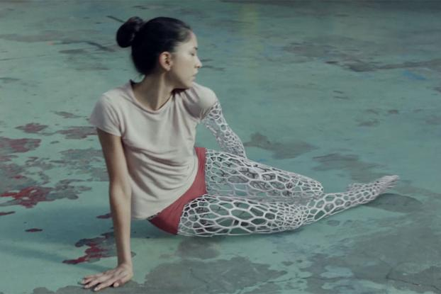 A Dancer Turns Into 3d Printed Mesh In Mesmerizing Chemical Brothers
