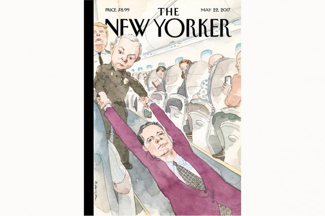 Comey Gets Dragged Off Overbooked Flight on Latest New Yorker Cover