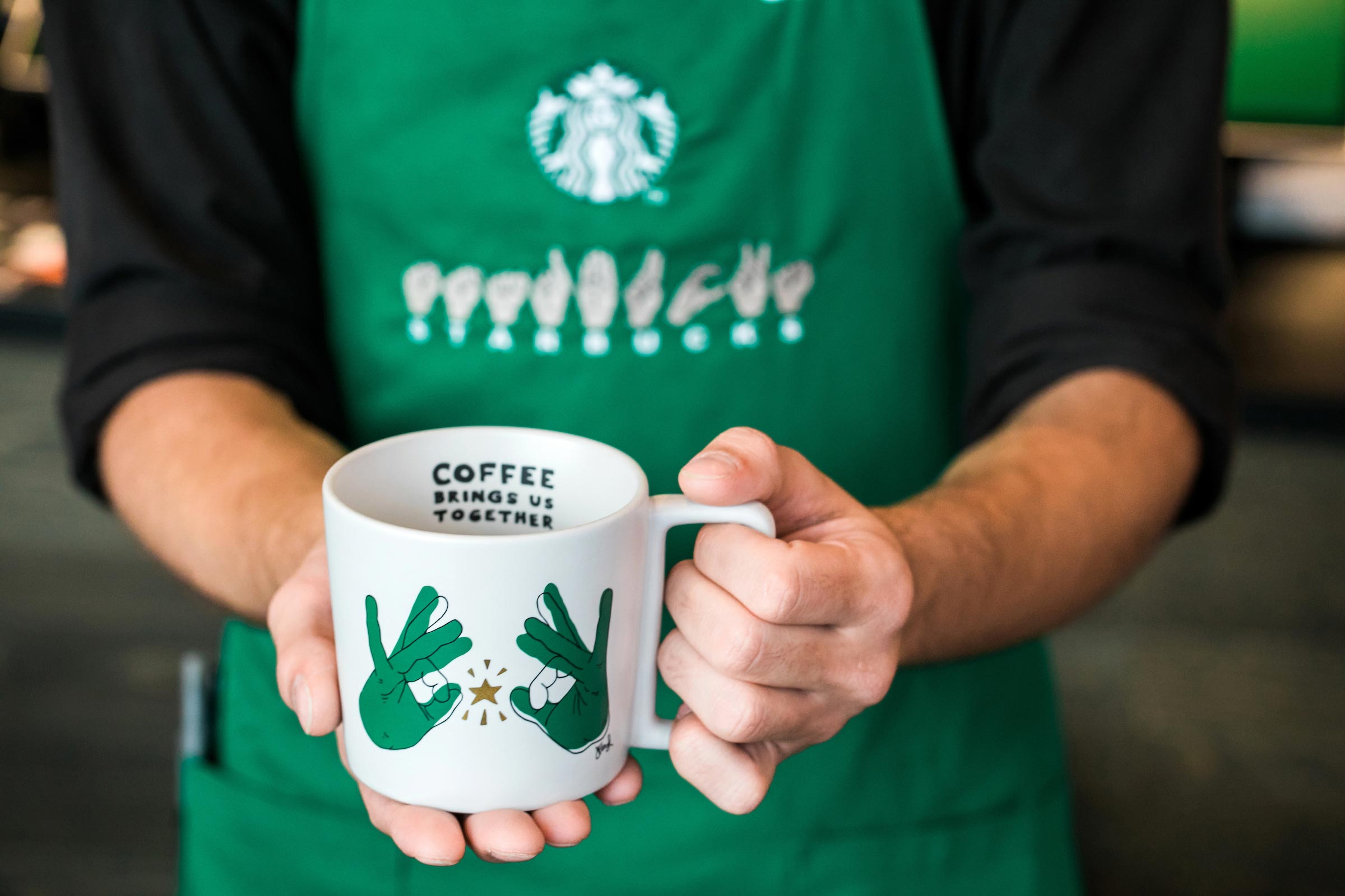 Starbucks opens its first U.S. sign-language store