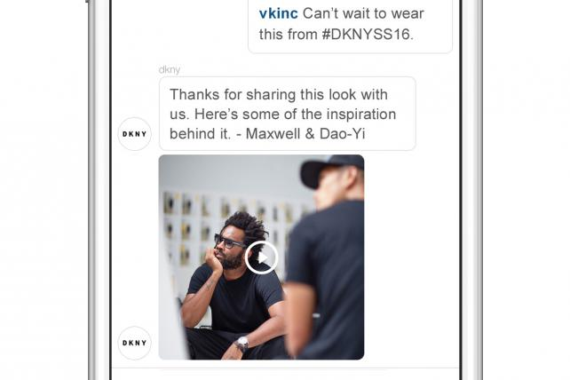 DKNY Gets Personal for New York Fashion Week With Instagram Direct Campaign